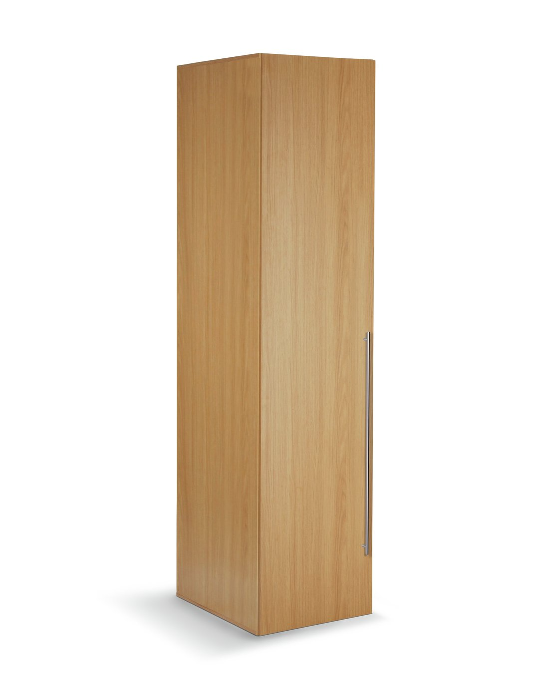 Argos Home Atlas 1 Door Tall Wardrobe - Oak Effect