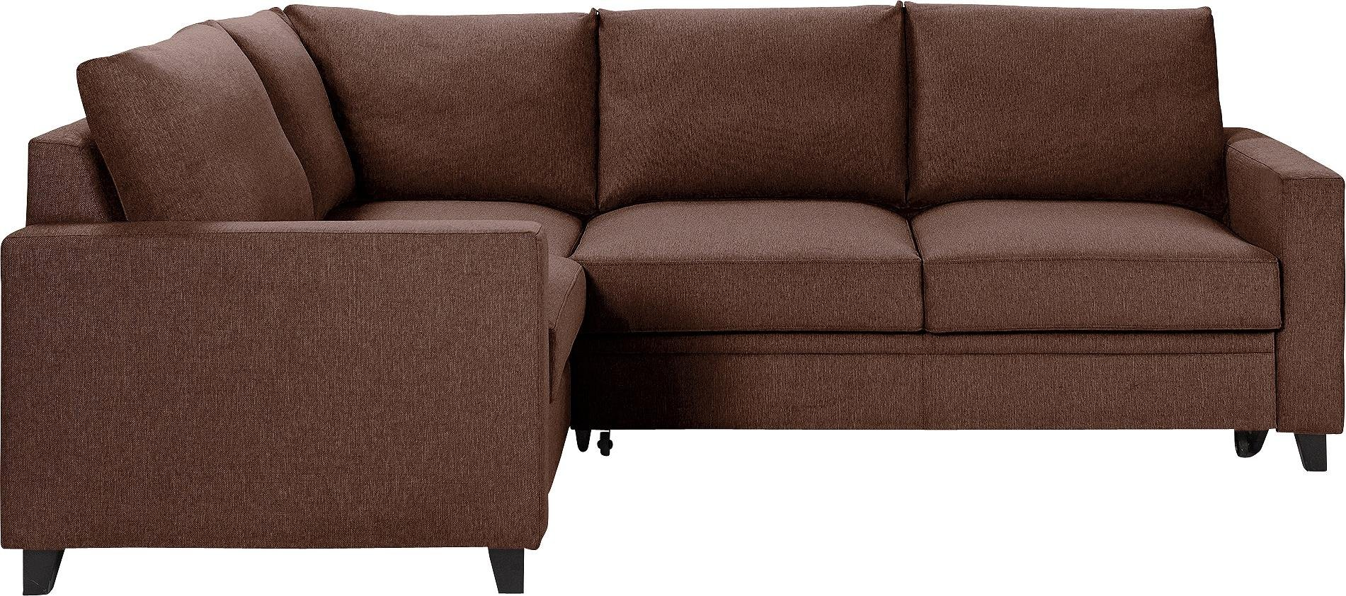 Hygena Seattle Fabric Left Hand Corner Sofa Bed - Brown