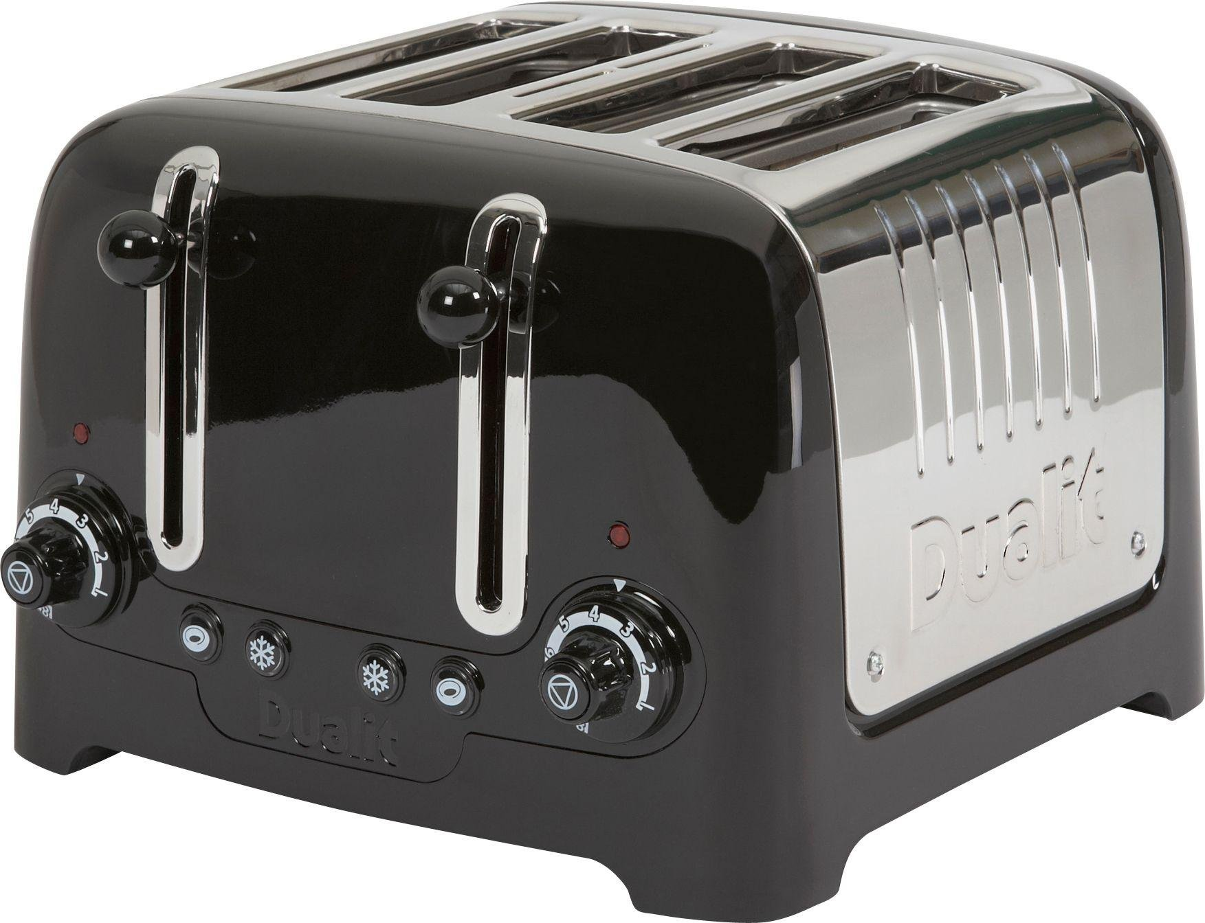 Image of Dualit DPP4 4 Slice Lite Toaster - Black