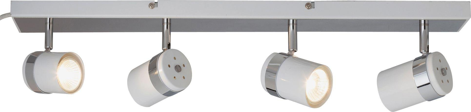 Argos Home Shiro 4 Spotlight Bar - White & Chrome