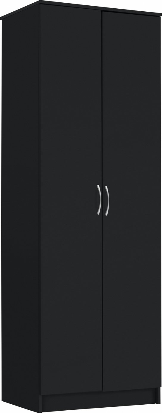 Argos Home Cheval 2 Door Wardrobe - Black