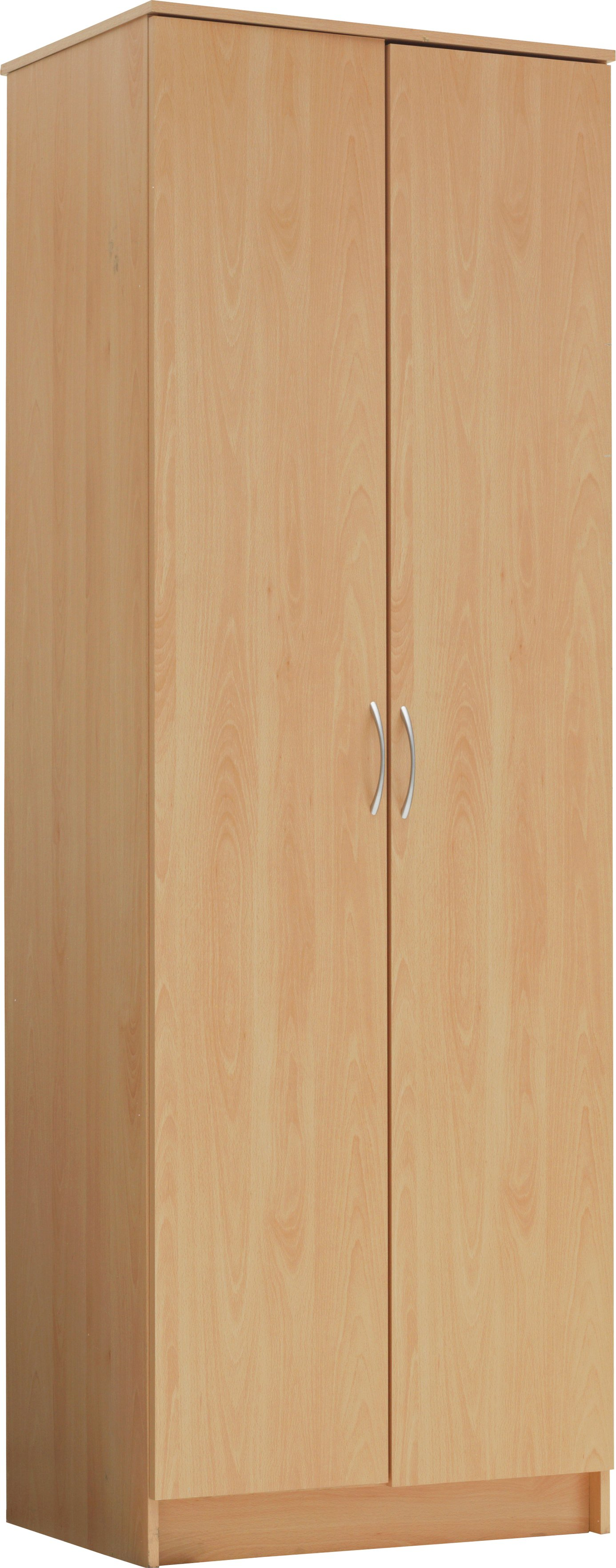 Argos Home Cheval 2 Door Wardrobe - Beech Effect