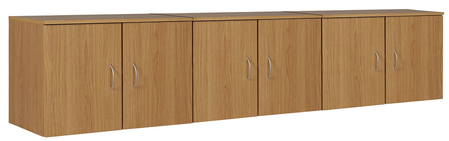 Argos Home Cheval Overbed Cupboards - Oak Effect