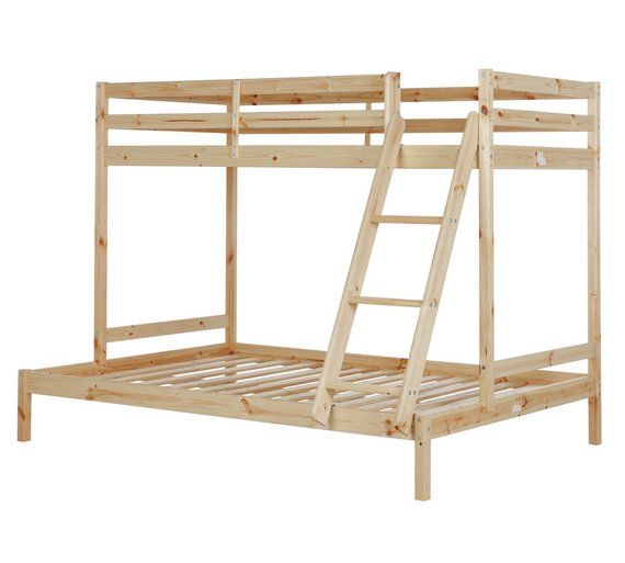 Buy home single and double bunk bed frame pine at argos for Single loft bed frame