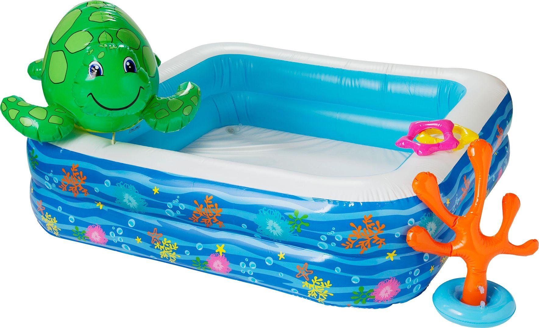Chad Valley Pool Set with Spray Turtle - 4.8ft - 302 Litres