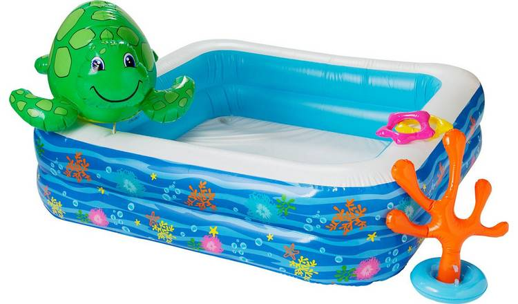 Chad Valley 5ft Spray Turtle Kids Paddling Pool - 302L