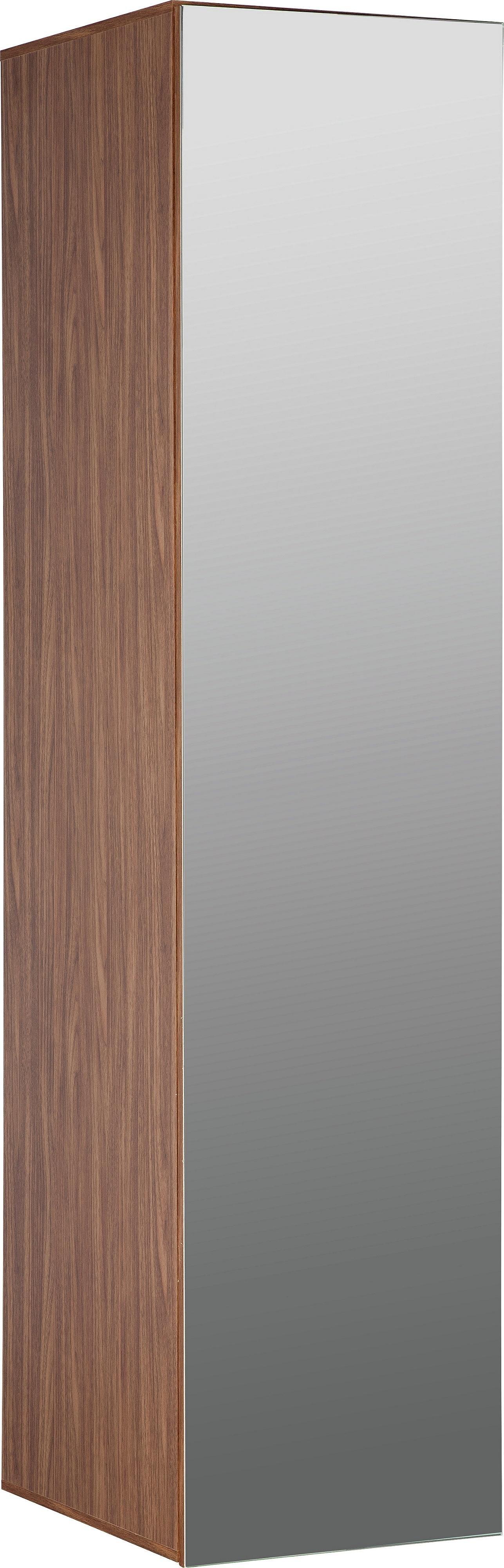 Argos Home Atlas Walnut Effect 1 Door Mirrored Tall Wardrobe