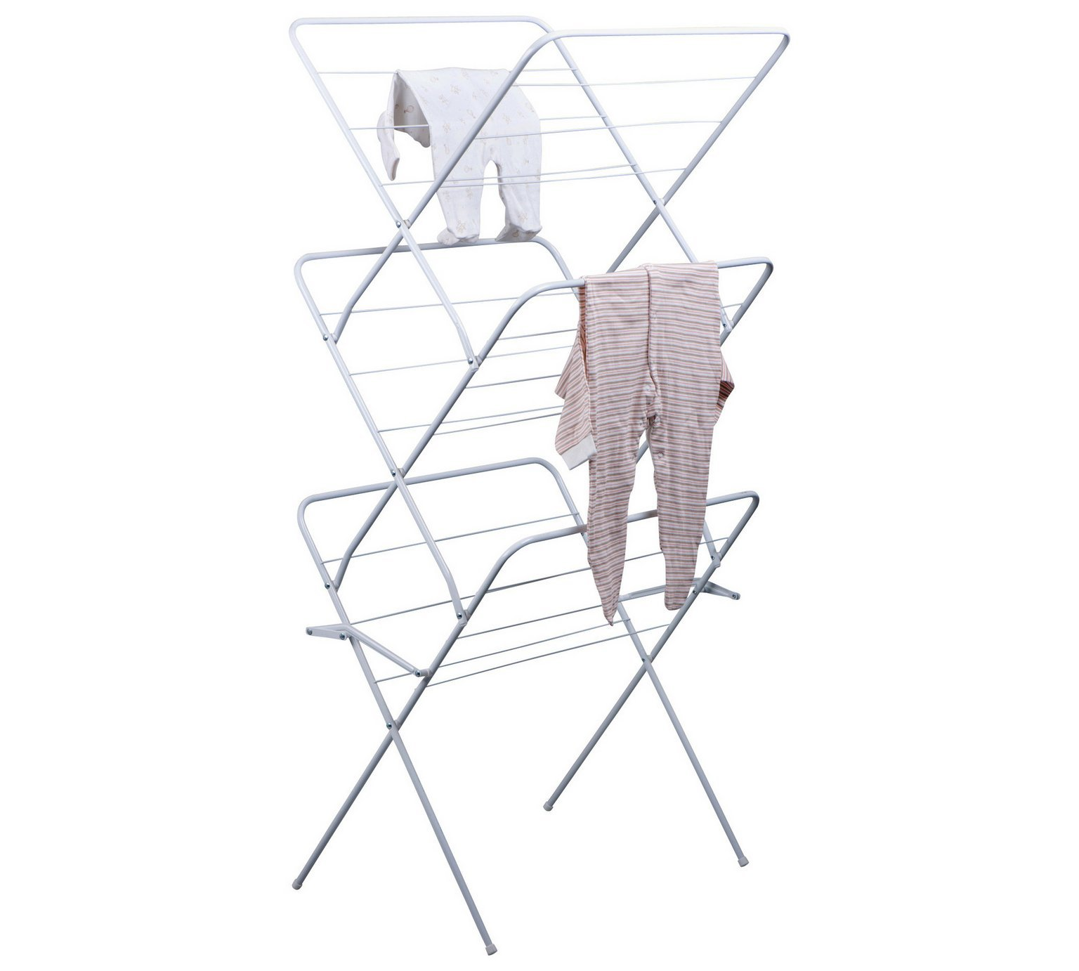 Image of ColourMatch - 15m 3 Tier Indoor Clothes Airer - Super White