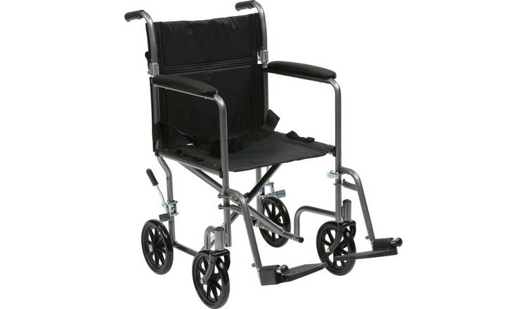 Drive DeVilbiss Lightweight Steel Travel Wheelchair