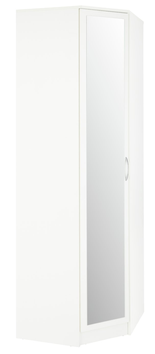 Argos Home Cheval 1 Door Mirrored Corner Wardrobe