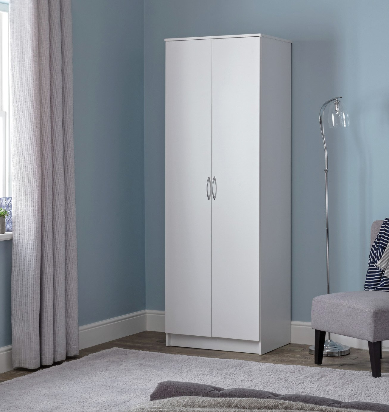 Argos Home Cheval 2 Door Wardrobe - White