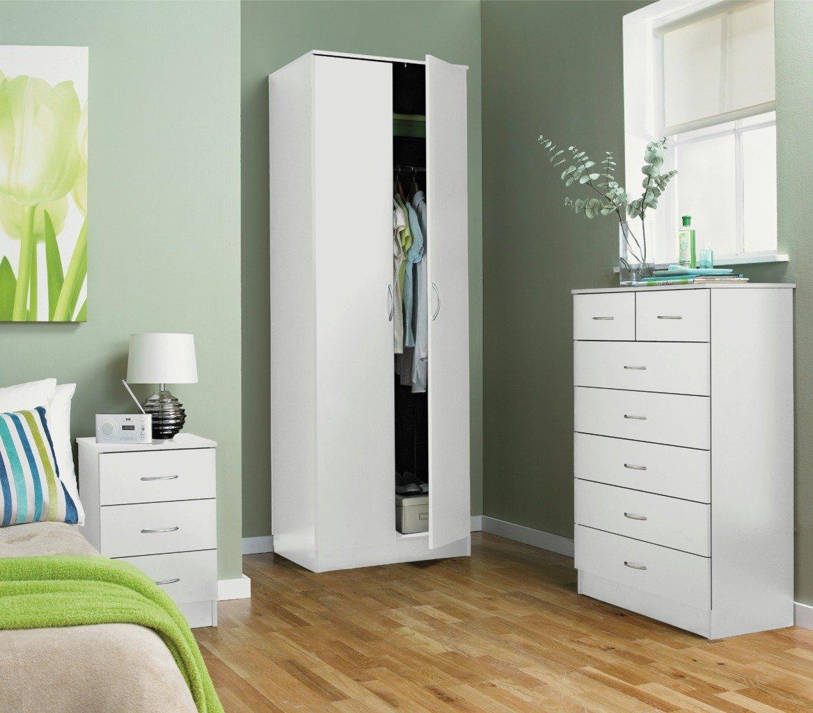 Argos Home Cheval 2 Door Wardrobe - White