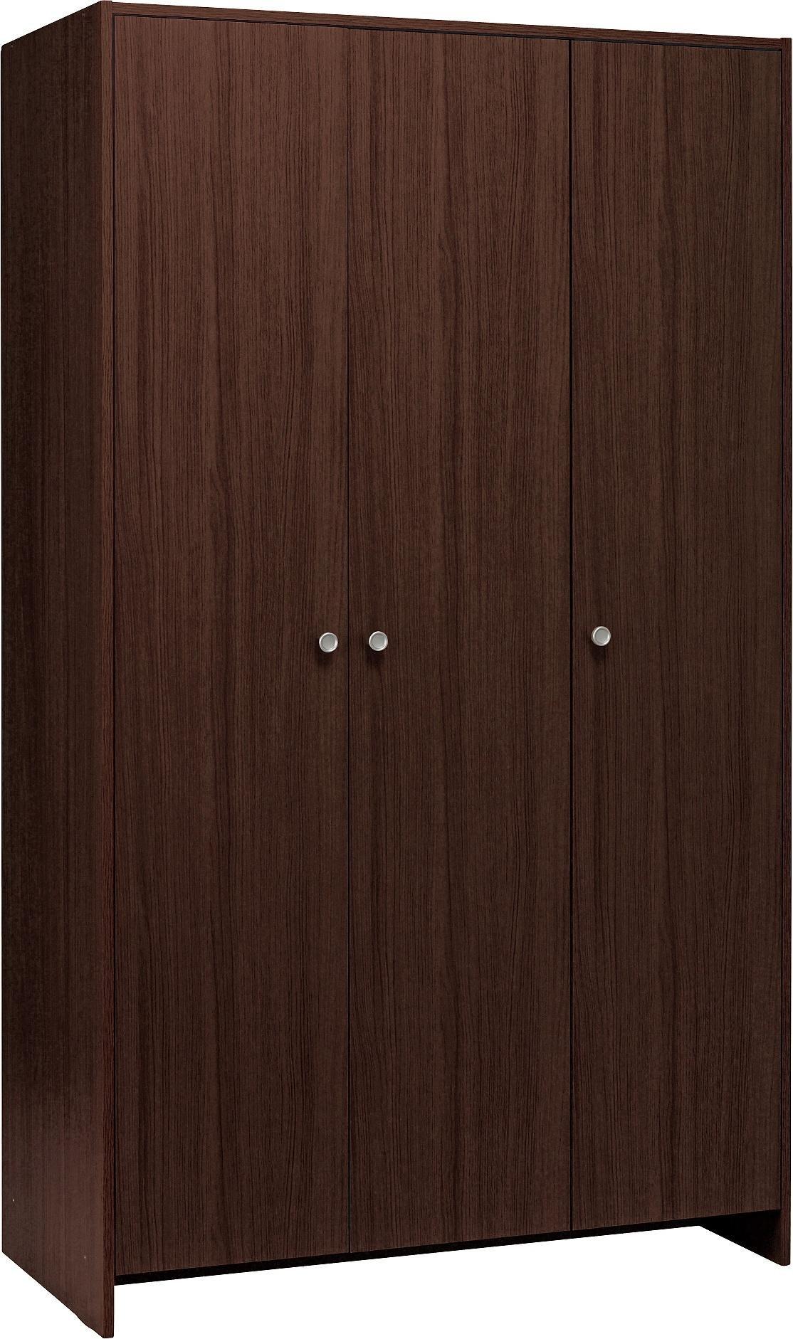 Argos Home Seville 3 Door Wardrobe - Dark Oak Effect