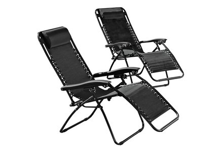 Image of the HOME Reclining Sun Loungers - Set of 2.
