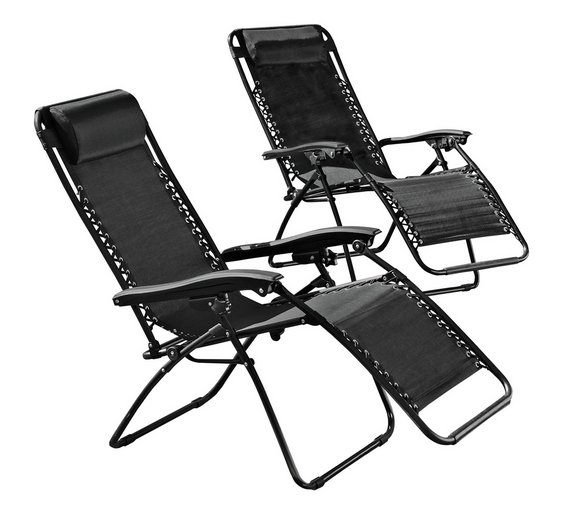 HOME Reclining Sun Loungers   Set of 2. Buy HOME Reclining Sun Loungers   Set of 2 at Argos co uk   Your
