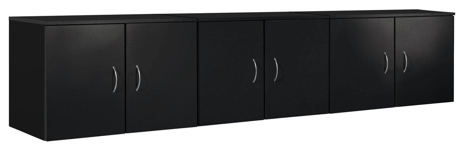 Image of Collection Cheval Overbed Cupboards - Black