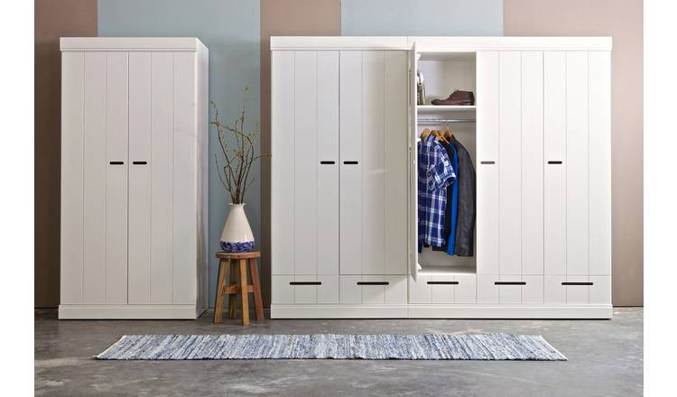 Woood Connect 2 Door 2 Drawer Wardrobe - White
