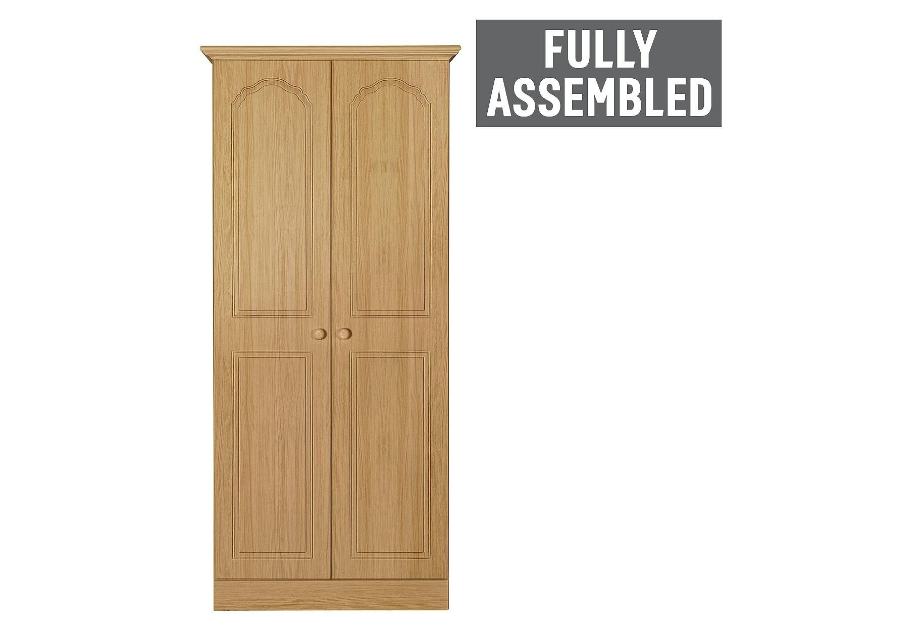 Argos Home Stratford 2 Door Wardrobe - Oak Effect