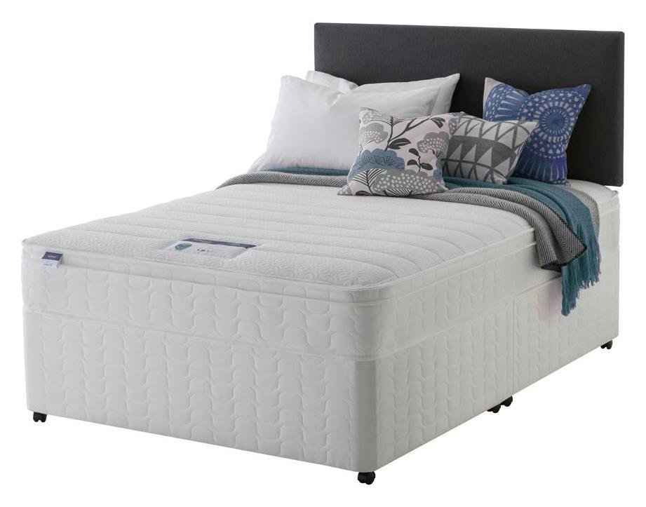 Image of Silentnight - Miracoil Travis Cushiontop - Double - Divan Bed