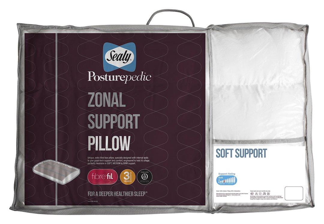 sealy  posturepedic zonal pillow  soft