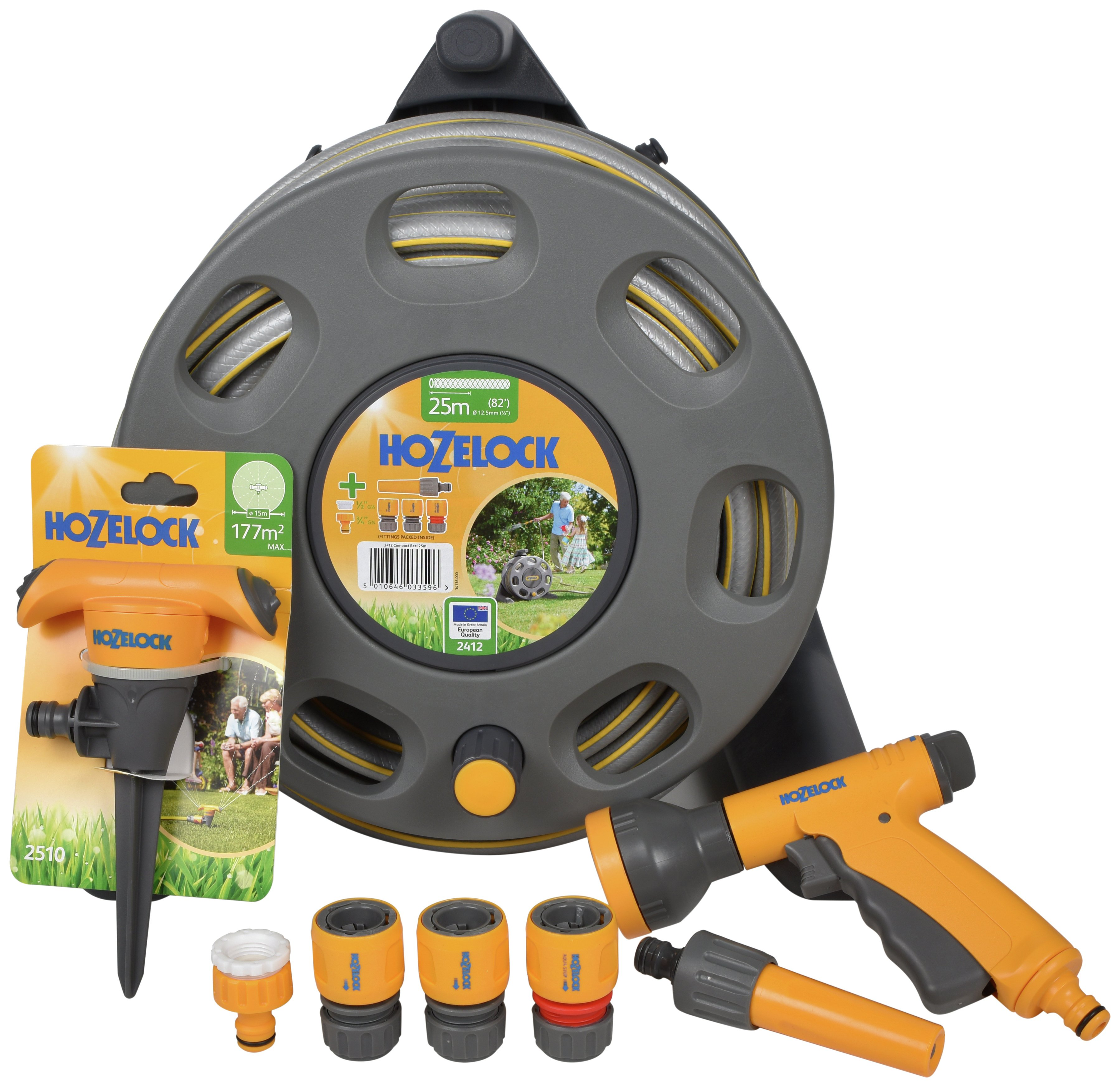 Hozelock Compact Reel with Accessories - 20m lowest price