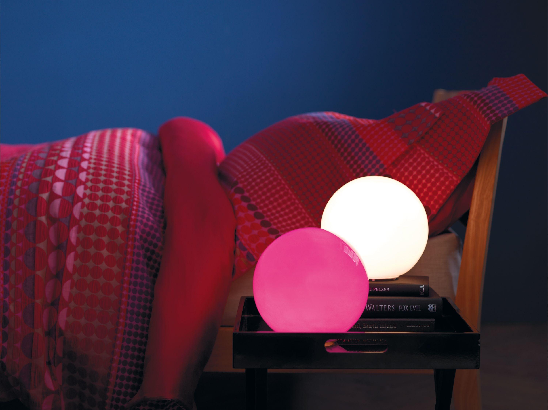 Image of Habitat - Louie Glass - Table Lamp - White