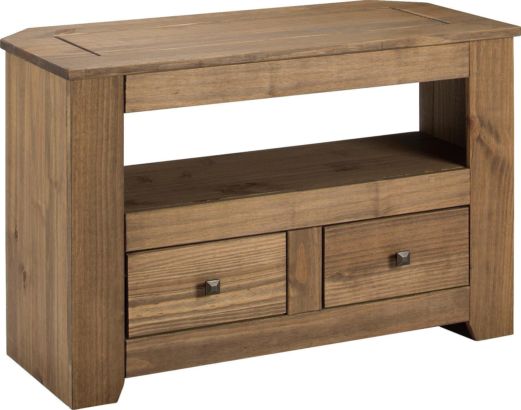 Argos Home Amersham 2 Drawer Solid Wood TV Unit - Dark Pine