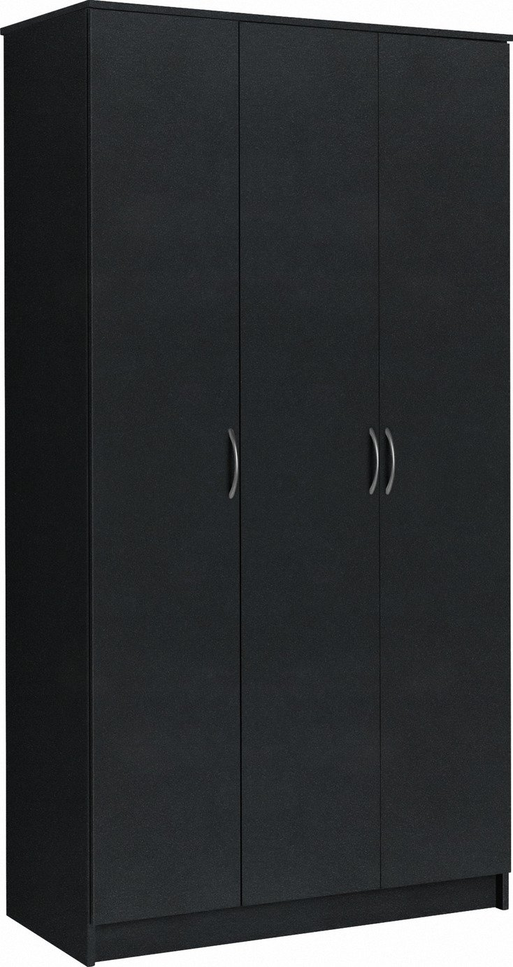 Argos Home Cheval 3 Door Wardrobe - Black