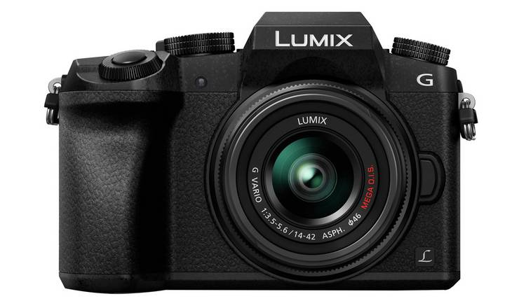 Panasonic Lumix G7 Mirrorless Camera, 14-42mm Lens - Black