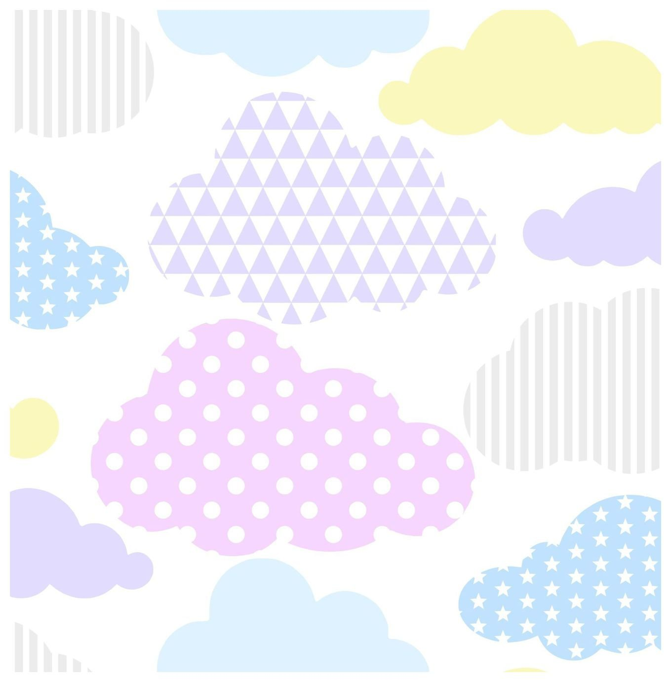 Superfresco Easy Marshmallow Pastel Clouds Wallpaper