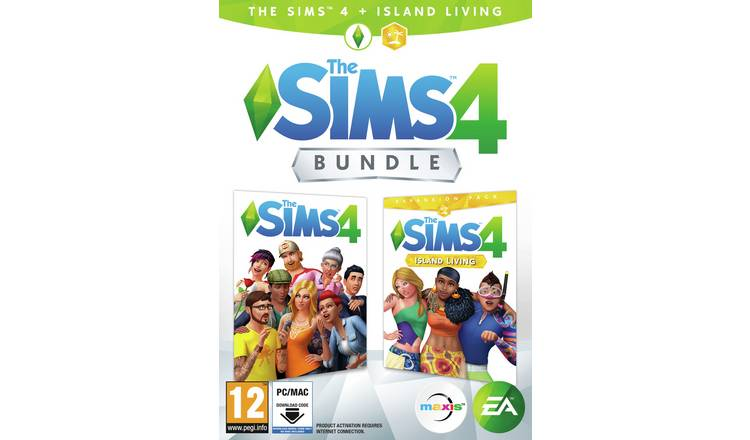 The Sims 4 & Island Living Expansion Pack PC Game Bundle