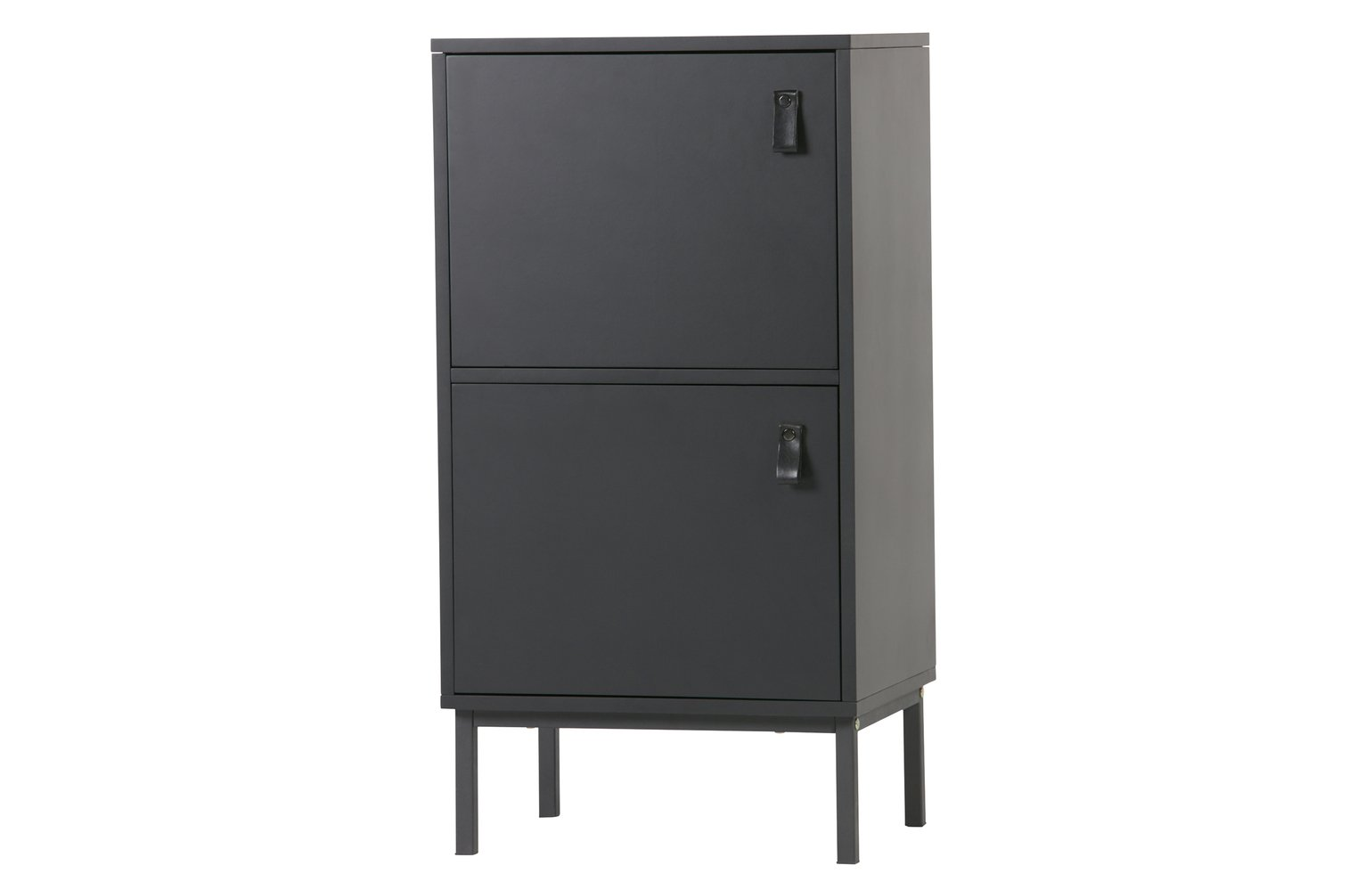 Woood Nico Black 2 Door Cabinet