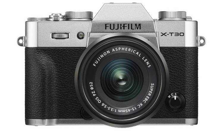 Fujifilm X-T30 Digital Camera with 15-45mm Lens- Silver