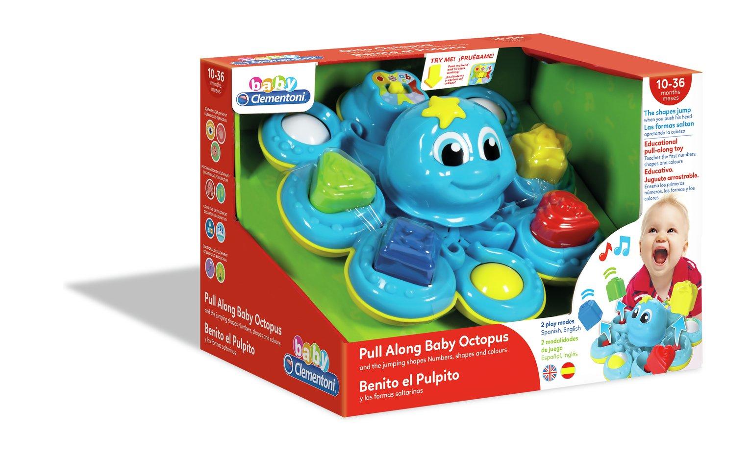 Baby Clementoni Interactive Octopus Shape Sorter