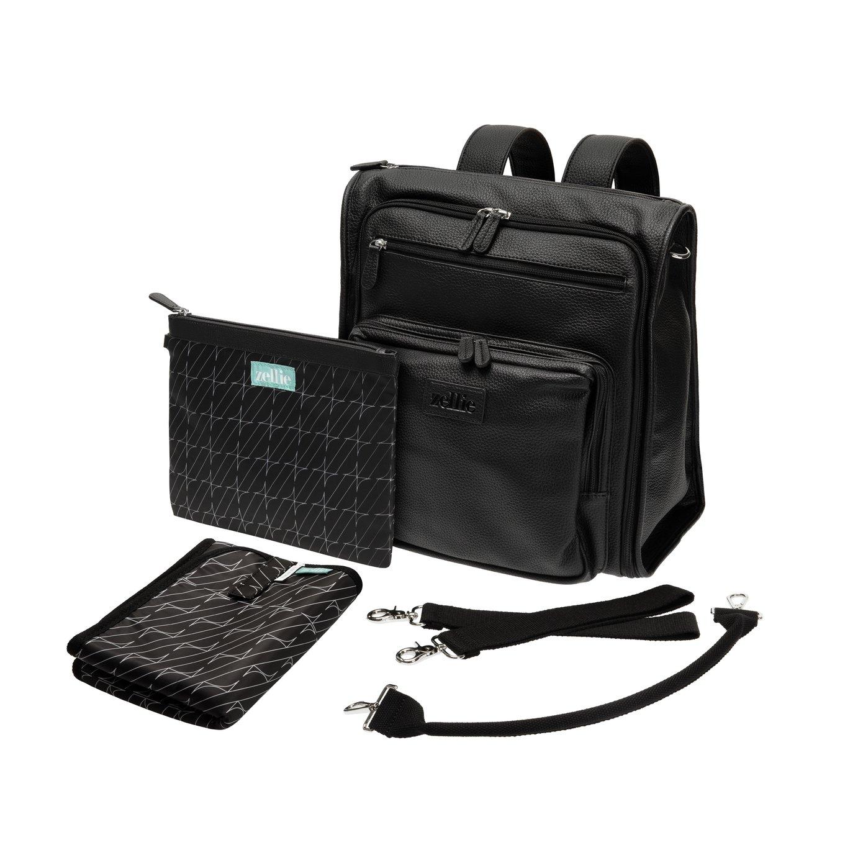 Zellie Inca Changing Bag Backpack - Black