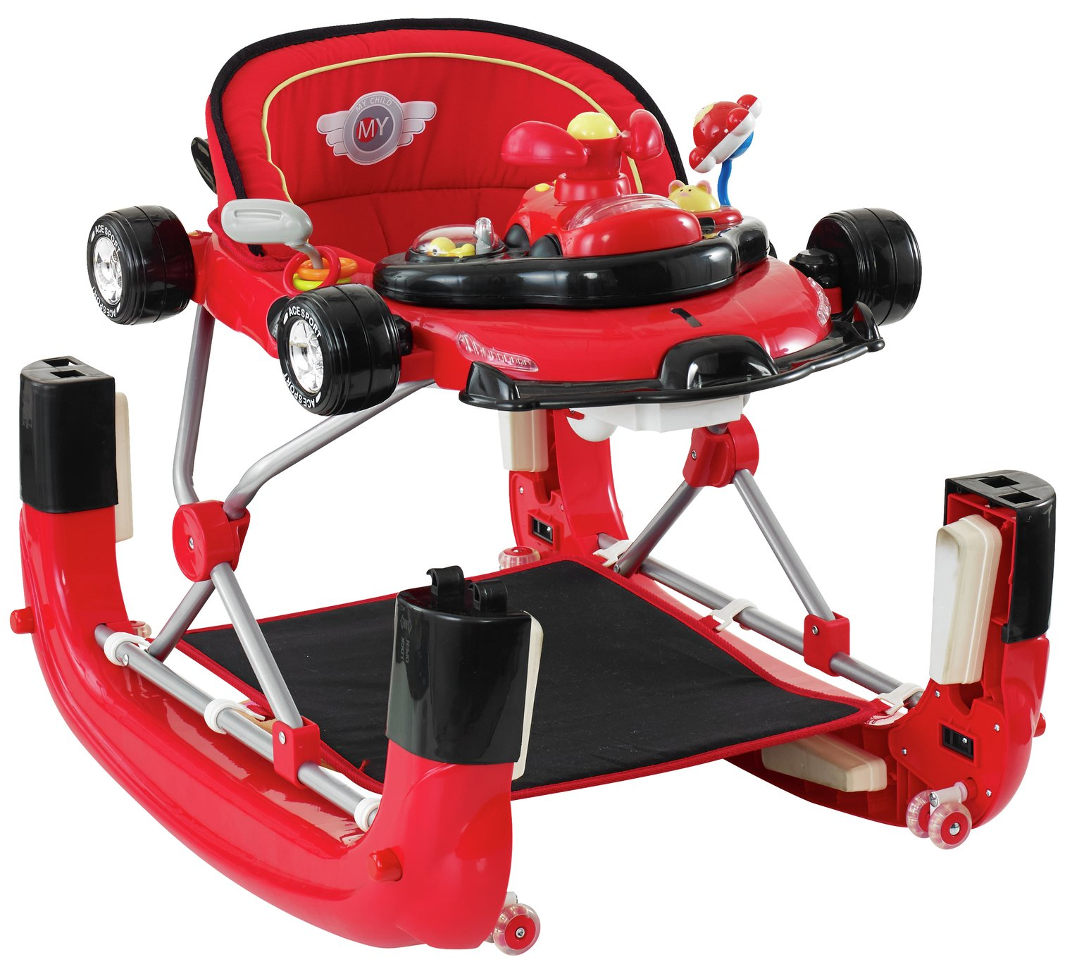 Mychild F1 2 in1 Car Walker Racing Red