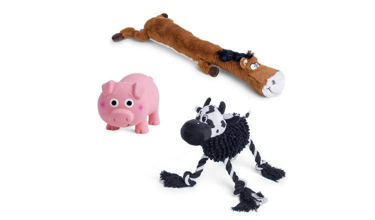 Petface Farm Yard Fun Animals Dog Toys