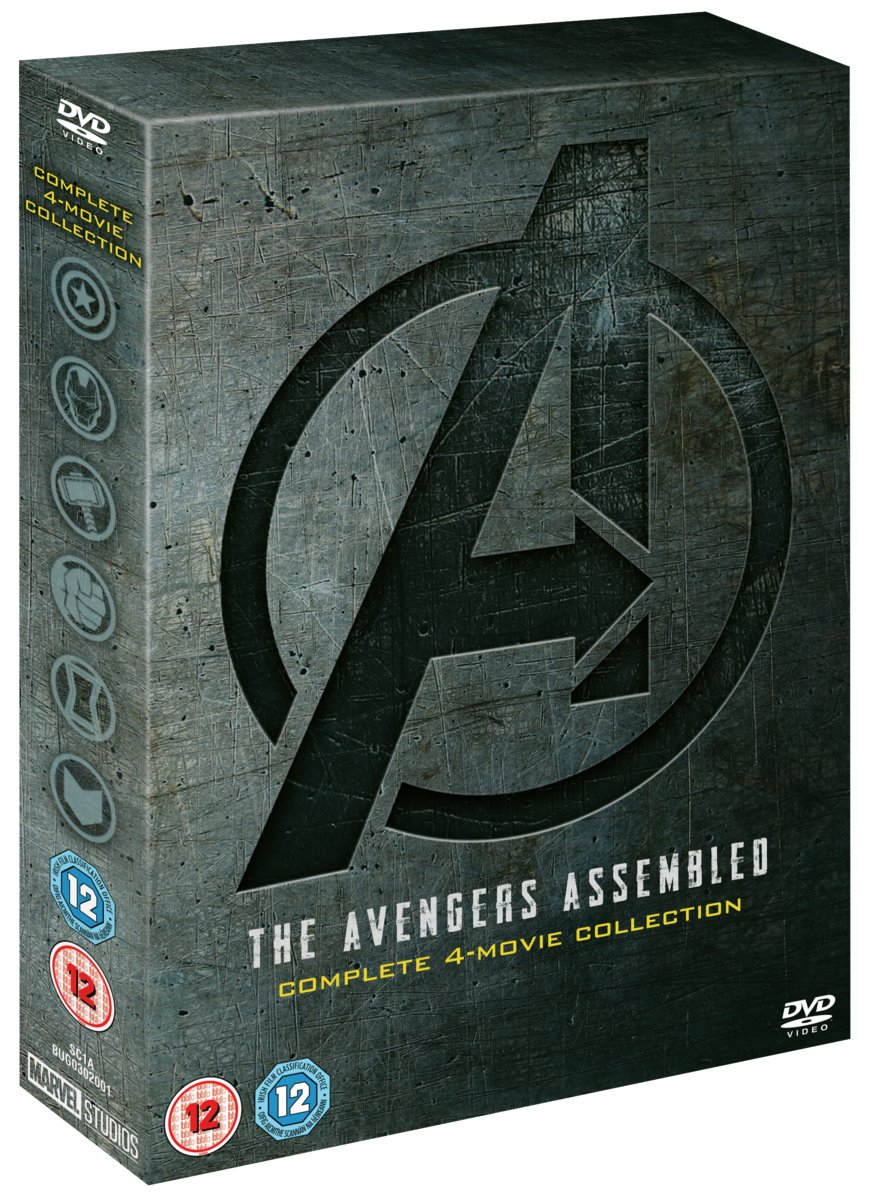 Marvel's Avengers Complete 4 Movie DVD Box Set