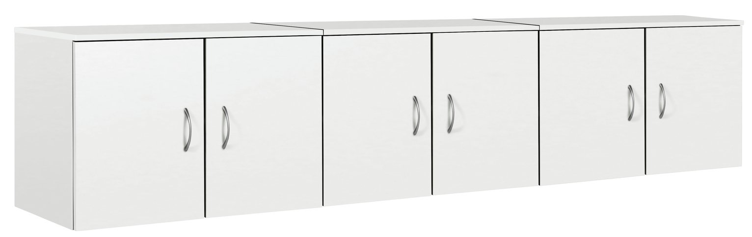 Image of Collection Cheval Overbed Cupboards - White