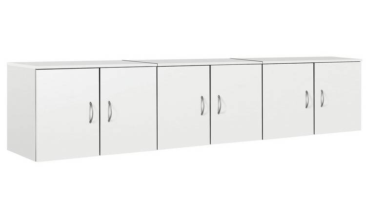 Argos Home Cheval Overbed Cupboards - White