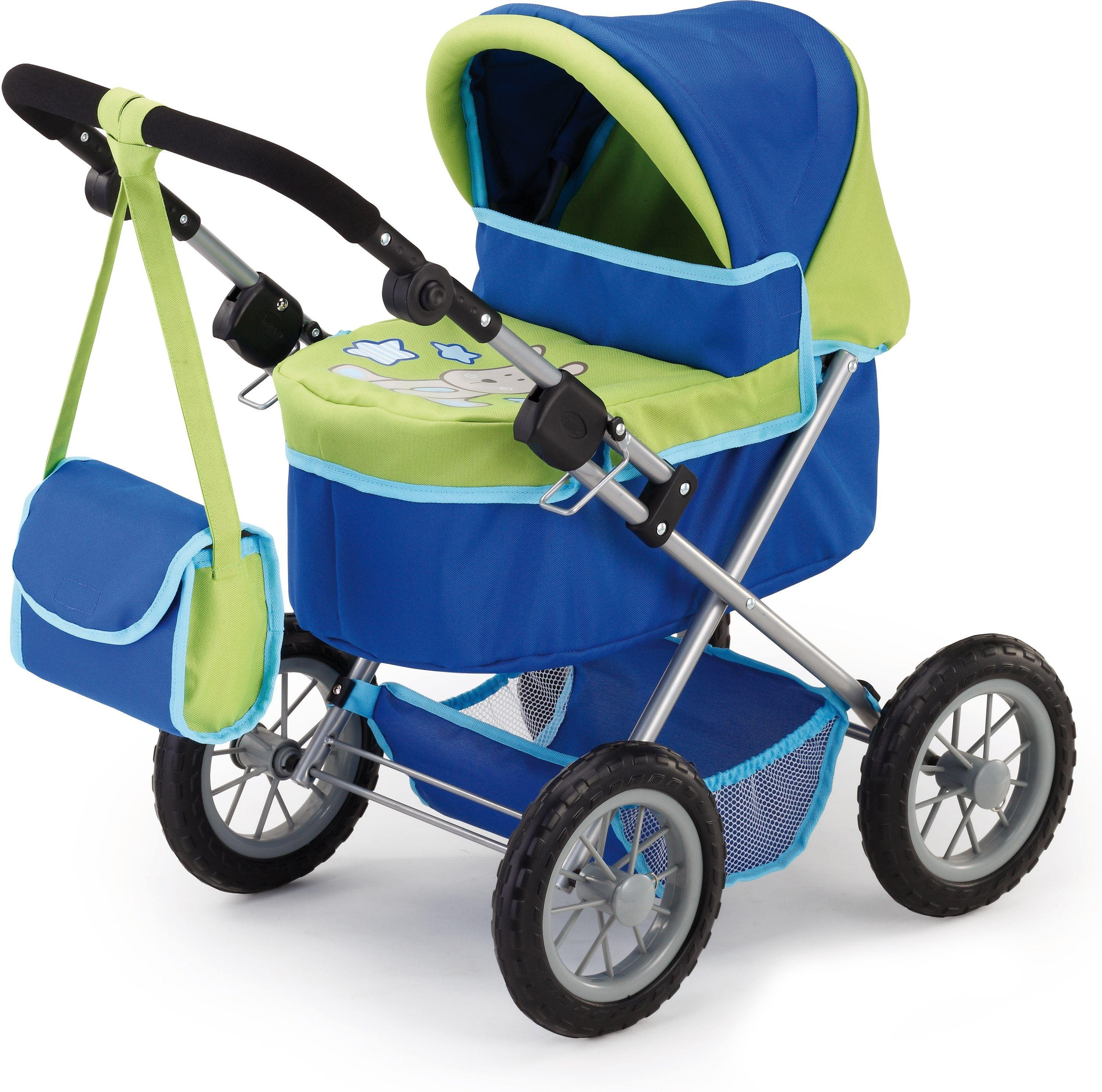 Image of Bayer - Design Trendy Doll Pram - Blue & Green