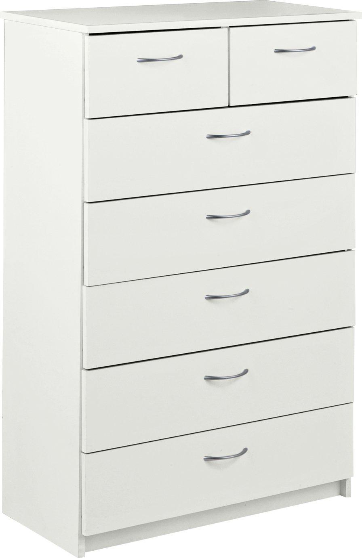 Argos Home Cheval 5+2 Drawer Chest - White
