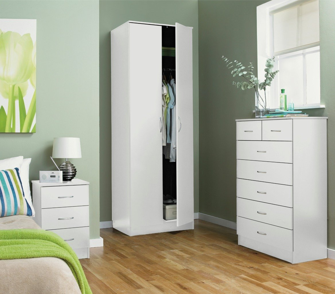 buy collection cheval 5+2 drawer chest - white at argos.co.uk