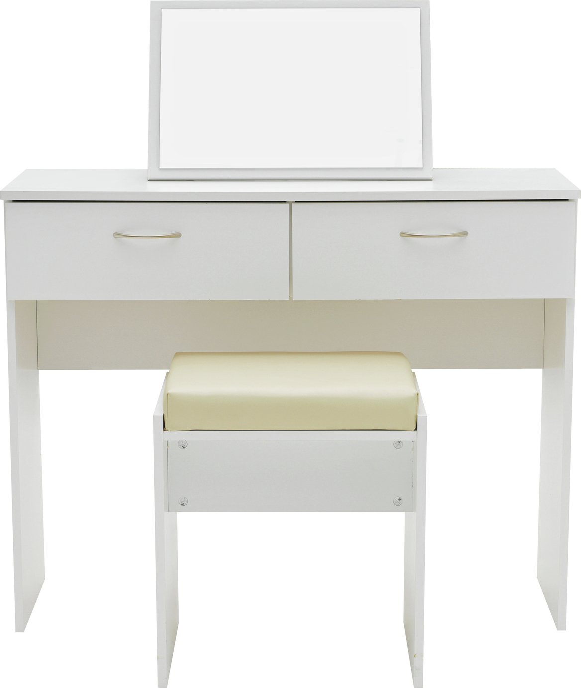 Image of Collection Cheval Dressing Table, Stool & Mirror - White