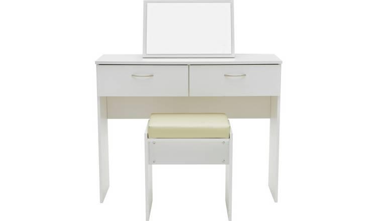 buy popular 6ddfc f69a5 Buy Argos Home Cheval Dressing Table Stool & Mirror - White | Dressing  tables | Argos