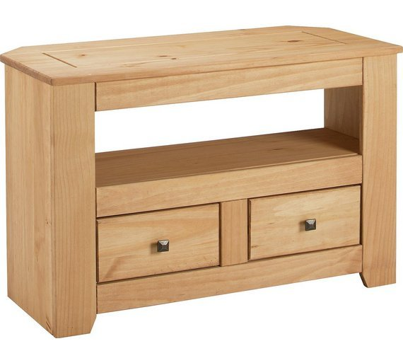 Argos Home Amersham 2 Drawer Solid Wood TV Unit - Light Pine