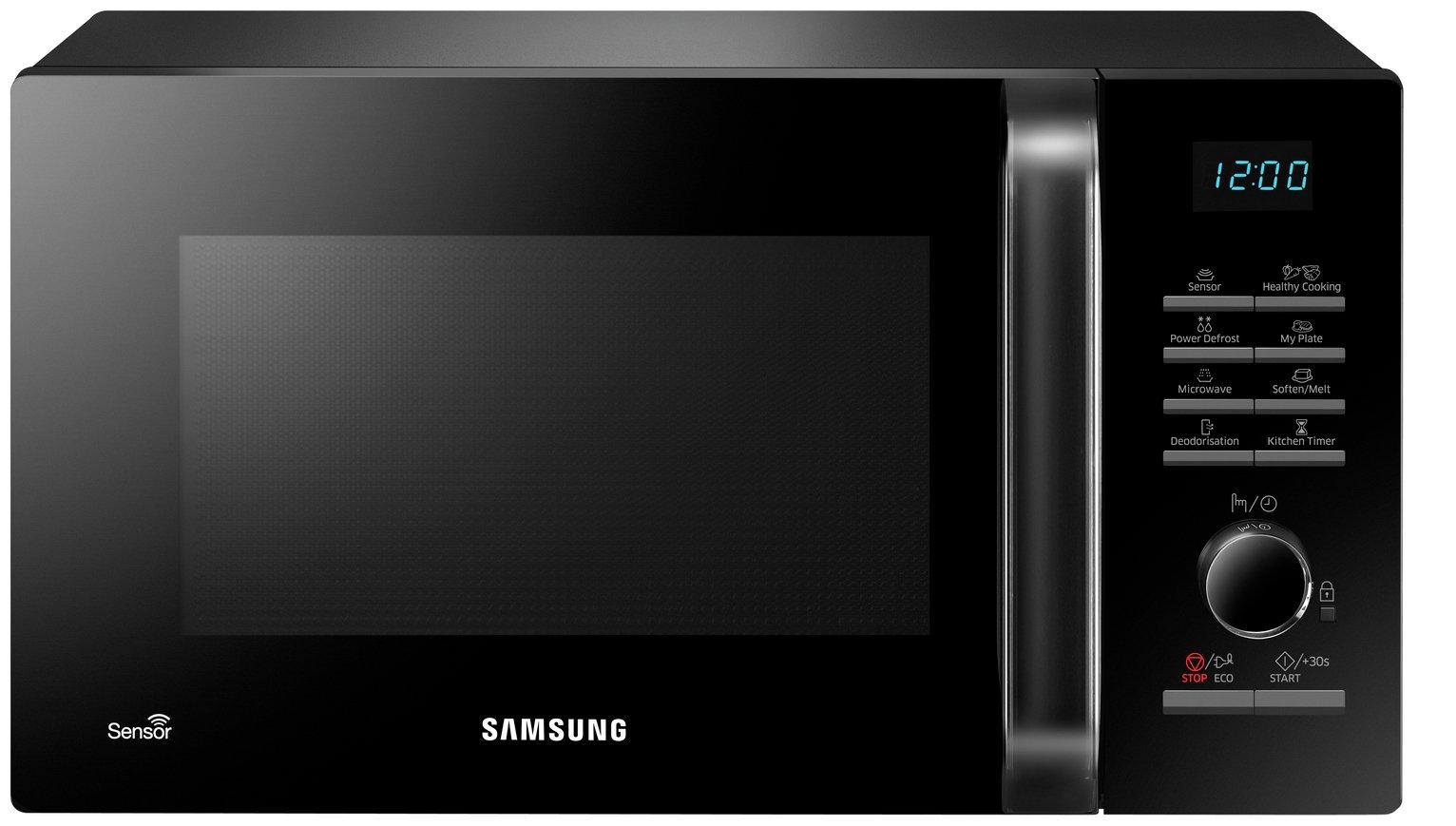 Samsung 800W 23L Standard Microwave MS23H3125AK - Black