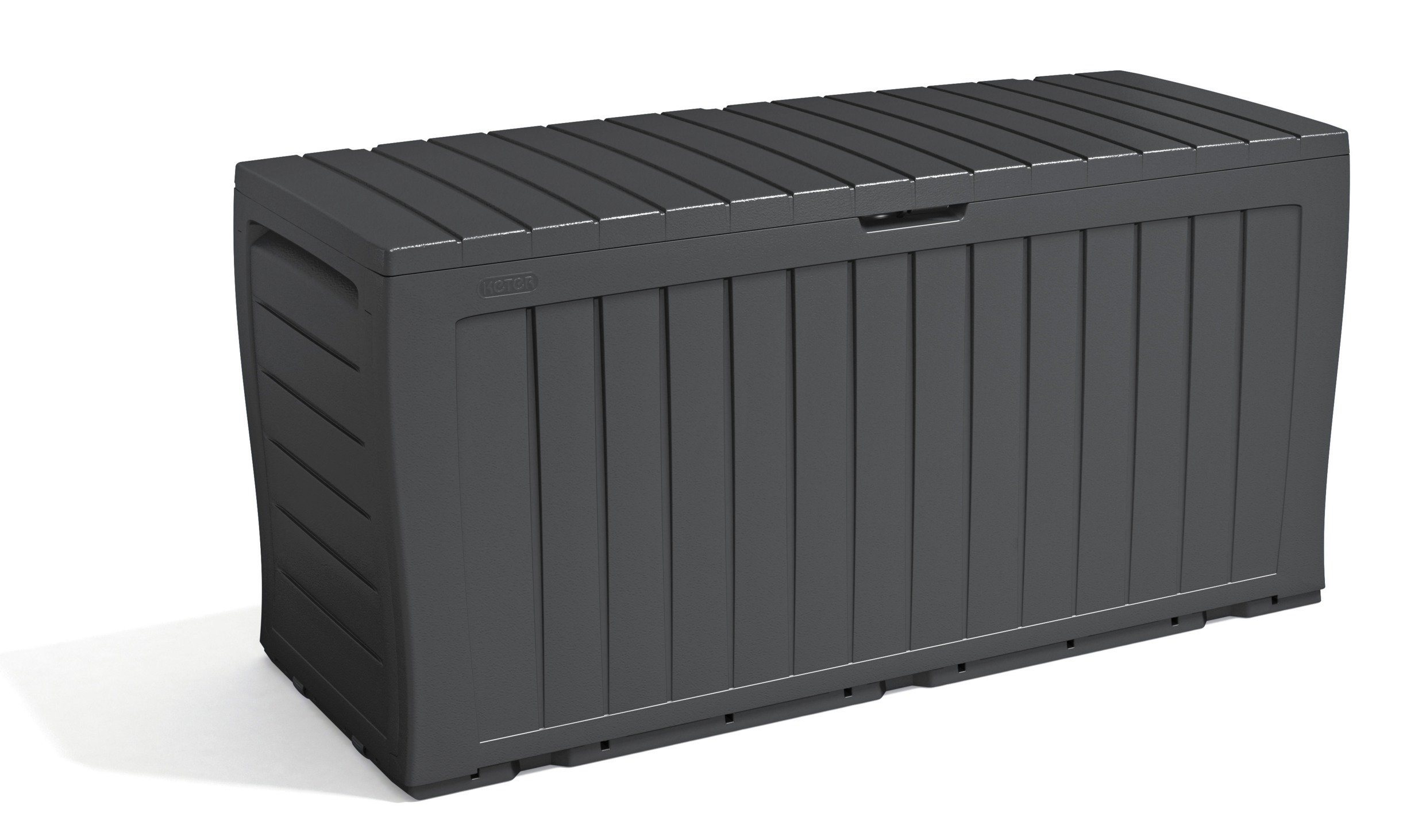 Keter Wood Effect Plastic Garden Storage Box Grey For