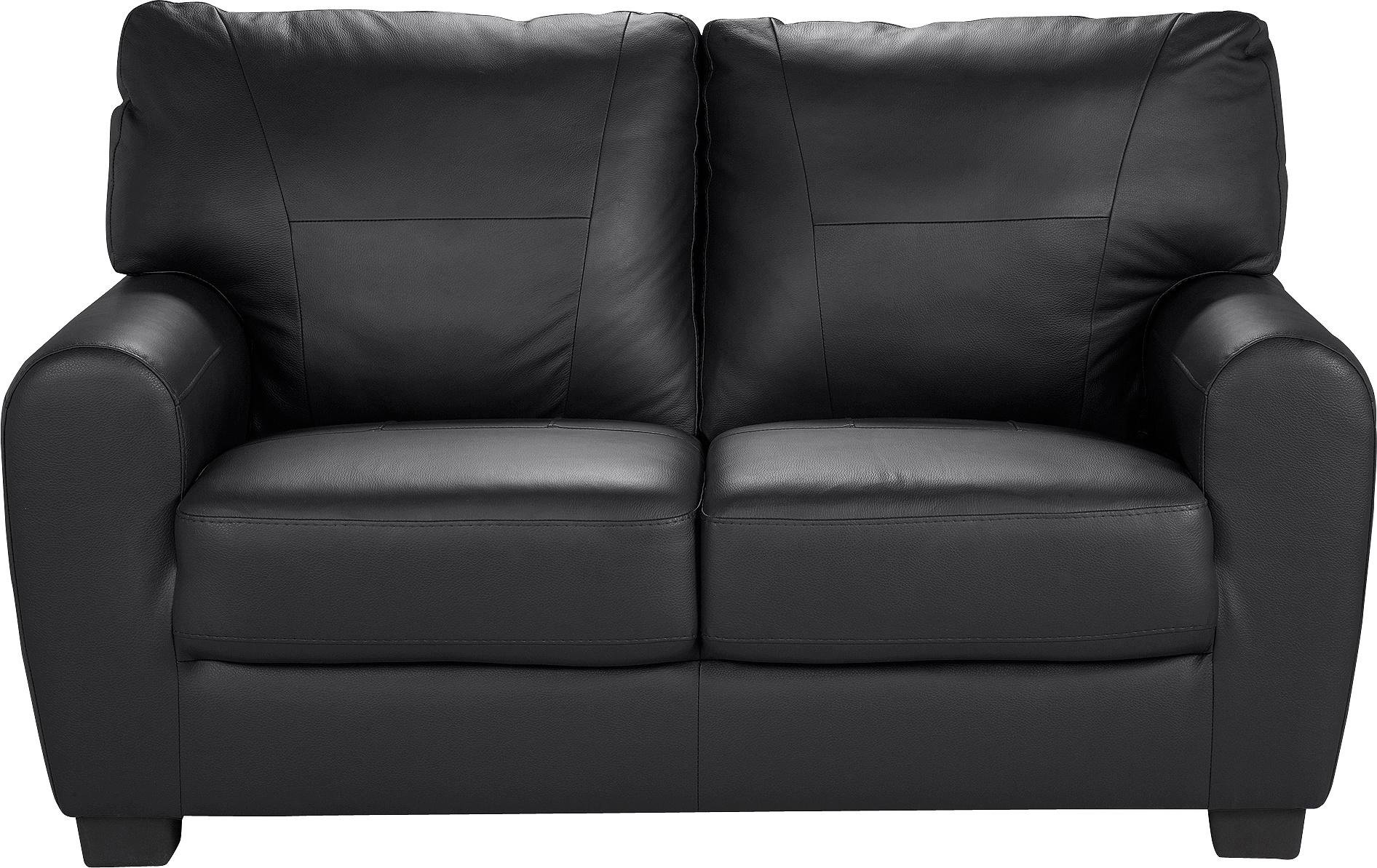 HOME - Stefano 2 Seater - Leather/Leather Effect Sofa - Black