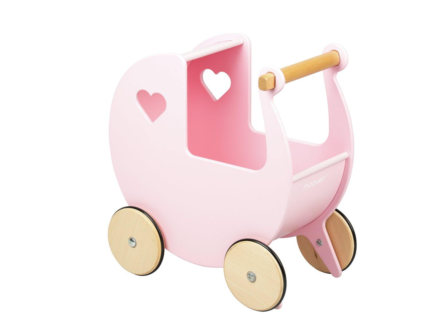 Moover Wooden Dolls Pram - Pink